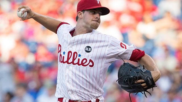 Phillies pitcher Aaron Nola