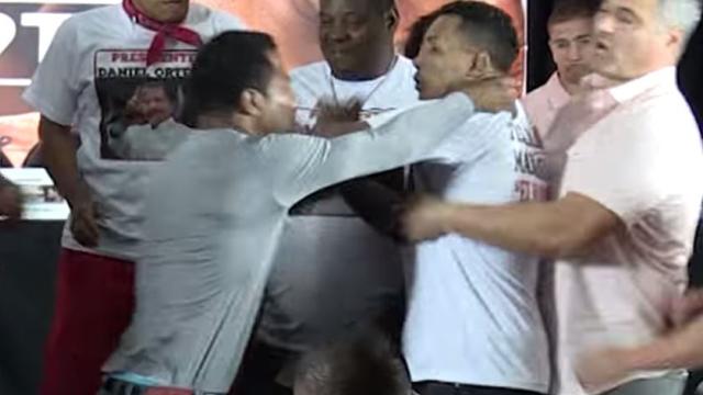 Boxers Shane Mosley, Ricardo Mayorga