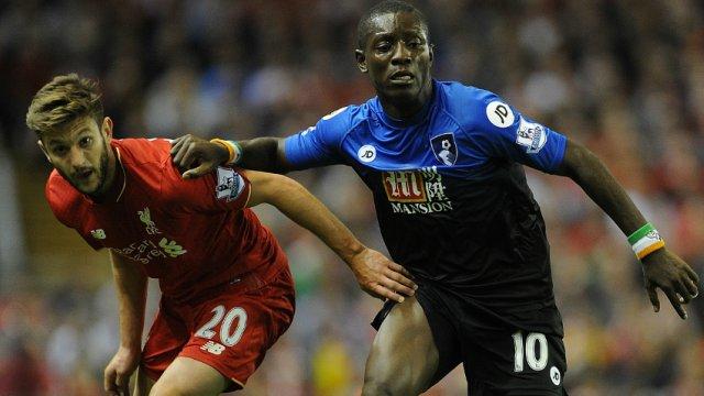Adam Lallana and Max Gradel in Liverpool's Premier League win over Bournemouth