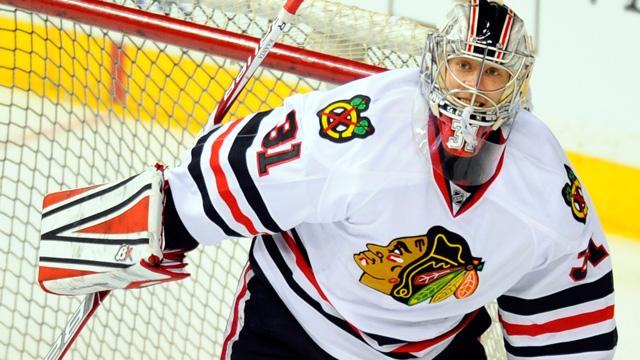 Chicago Blackhawks goalie Antti Raanta