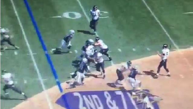Baltimore Ravens run a trick play