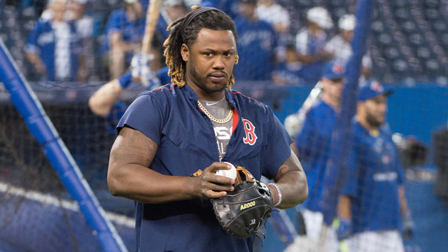 Boston Red Sox left fielder Hanley Ramirez