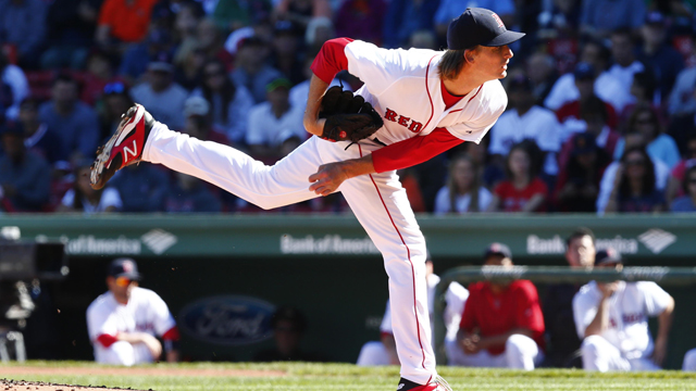 Boston Red Sox starting pitcher Henry Owens
