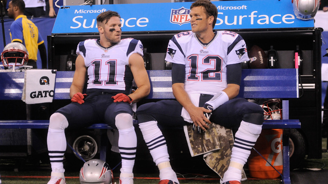 Tom Brady and Julian Edelman
