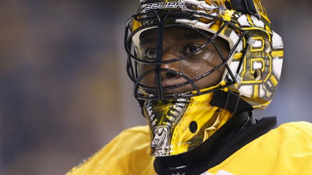 Boston Bruins goalie Malcolm Subban