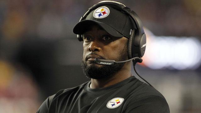 Steelers coach Mike Tomlin vs Patriots
