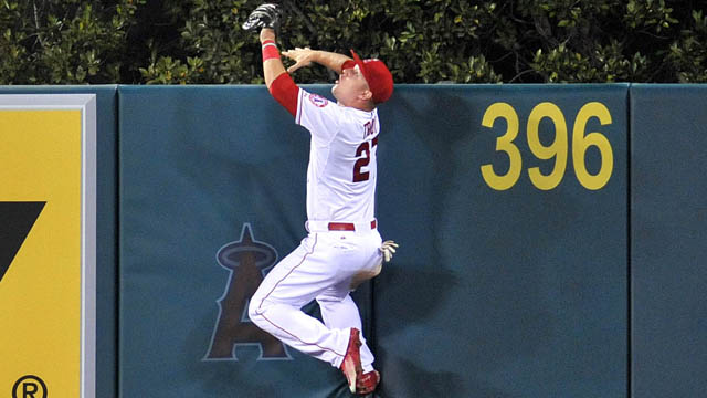 Angels center fielder Mike Trout