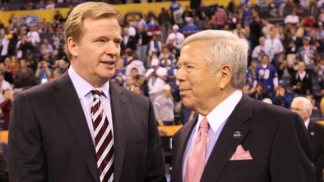 Roger Goodell and Robert Kraft