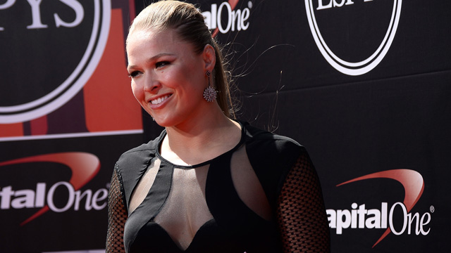 UFC fighter Ronda Rousey at the ESPYs