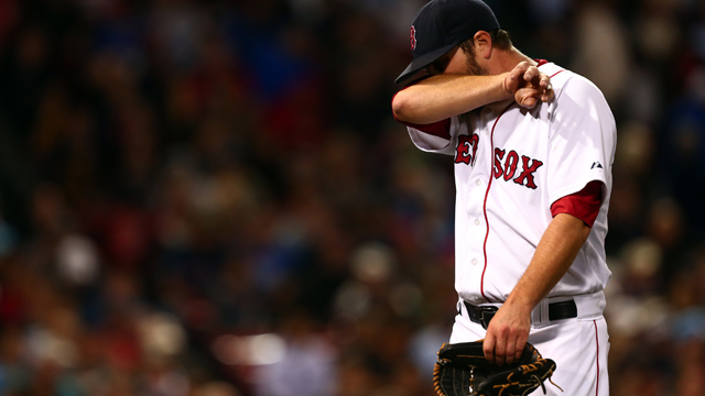 Boston Red Sox starting pitcher Wade Miley