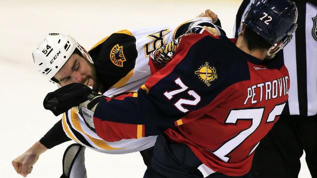 Boston Bruins defenseman Adam McQuaid