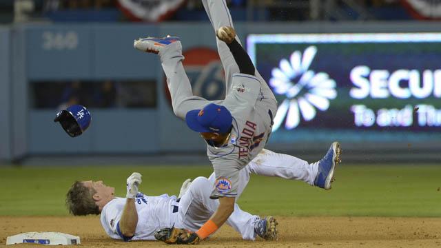 Chase Utley takes out Ruben Tejada
