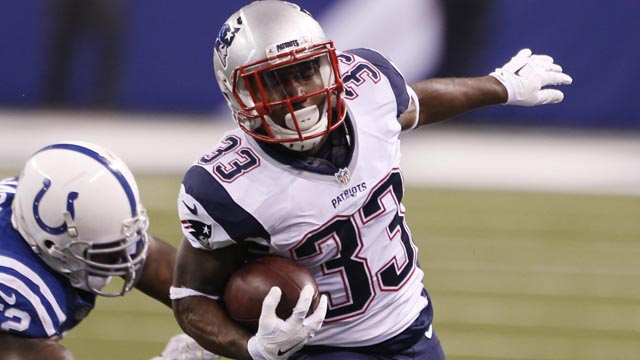Patriots running back Dion Lewis