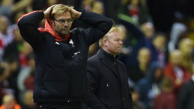 Jurgen Klopp laments lack of belief after LFC-Southampton draw.