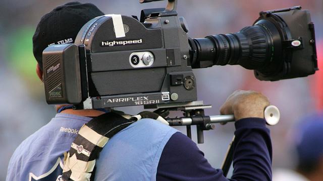 An NFL films camera man