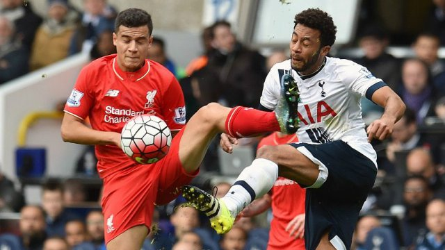 Philippe Coutinho and Moussa Dembele in Liverpool's Premier League draw with Tottenham