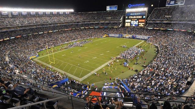 General view of Qualcomm Stadium