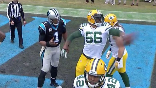 Cam Newton and Julius Peppers