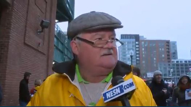 Fan at the Hurling classic