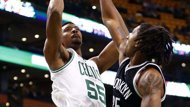Celtics forward Jordan Mickey