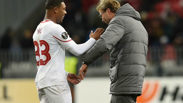 Jordon Ibe and Jurgen Klopp in Liverpool's Europa League win over Rubin Kazan