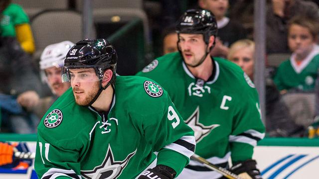 Dallas Stars forwards Tyler Seguin and Jamie Benn