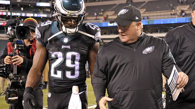 Philadelphia Eagles running back DeMarco Murray and head coach Chip Kelly