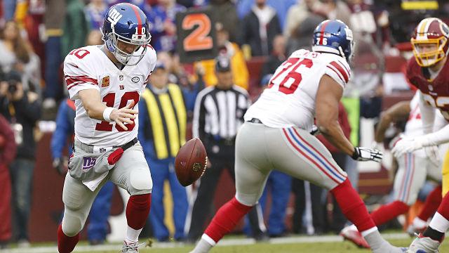 New York Giants quarterback Eli Manning