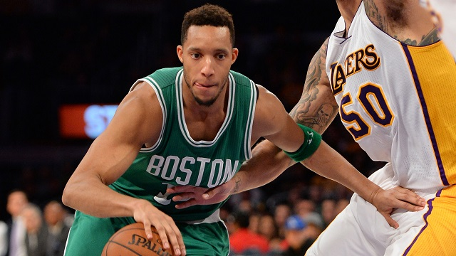 Boston Celtics guard Evan Turner
