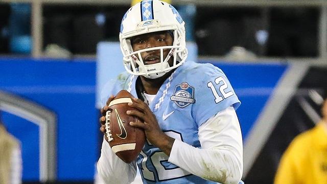 North Carolina Tar Heels quarterback Marquise Williams