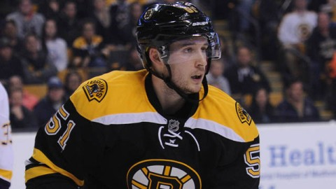 Boston Bruins center Ryan Spooner