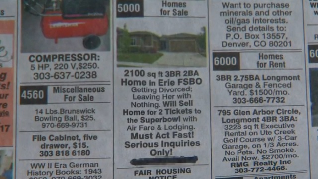 House listed for Super Bowl 50 tickets
