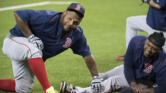 Boston Red Sox third baseman Pablo Sandoval and first baseman Hanley Ramirez