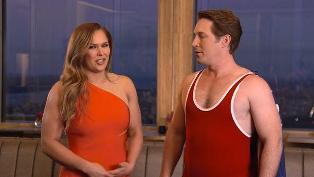 Ronda Rousey and SNL star Beck Bennett