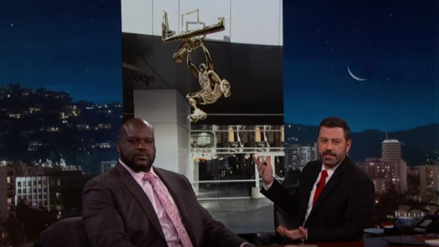 Shaquille O'Neal and Jimmy Kimmel