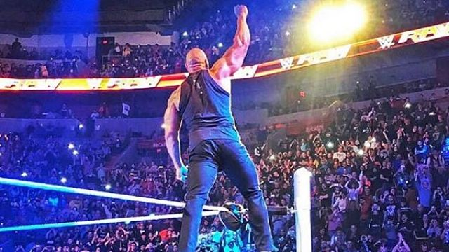 "The Rock returns to WWE's ""Monday Night RAW"""