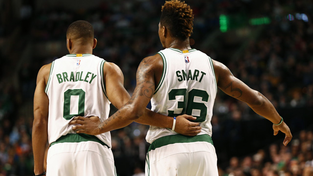 Avery Bradley and Marcus Smart