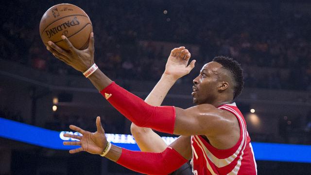 Houston Rockets center Dwight Howard