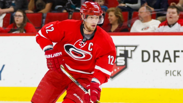 Hurricanes forward Eric Staal