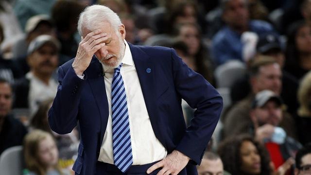 San Antonio Spurs head coach Gregg Popovich
