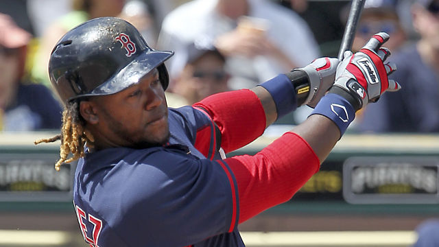 Boston Red Sox outfielder Hanley Ramirez