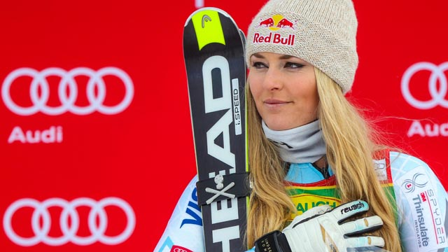 First place finisher Lindsey Vonn
