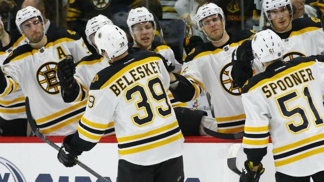 Boston Bruins forward Matt Beleskey