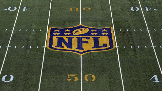 General view of the NFL gold shield logo