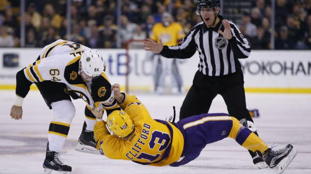 Boston Bruins right wing Tyler Randell