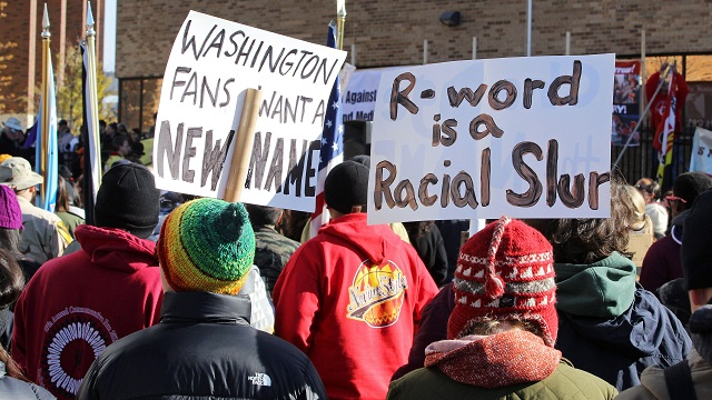 Washington Redskins protest