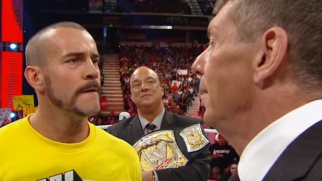 CM Punk, Vince McMahon