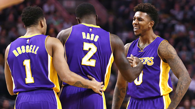 D'Angelo Russell, Brandon Bass, Nick Young