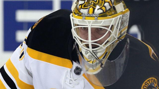 Boston Bruins goalie Jonas Gustavsson