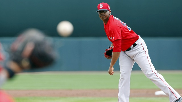 Boston Red Sox starting pitcher Roenis Elias